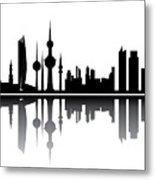 Kuwait Skyline Metal Print