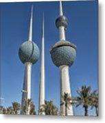 Kuwait Towers In Kuwait City, Kuwait Metal Print
