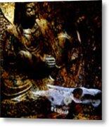 Kwan Yin Meditates Metal Print