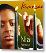 Kwanzaa Nia Metal Print by Shaboo Prints