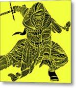 Kylo Ren - Star Wars Art - Yellow Metal Print