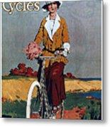 Kynoch Cycles - Bicycle - Vintage Advertising Poster Metal Print