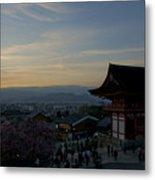 Kyoto And Kiyomizu-dera At Sunset Metal Print