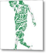 Kyrie Irving Boston Celtics Pixel Art 43 Metal Print