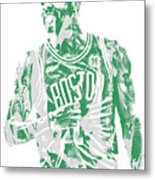 Kyrie Irving Boston Celtics Pixel Art 7 Metal Print