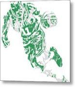 Kyrie Irving Boston Celtics Pixel Art 9 Metal Print