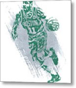 Kyrie Irving Boston Celtics Water Color Art 2 Metal Print