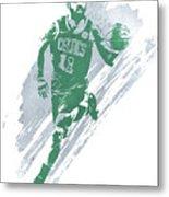 Kyrie Irving Boston Celtics Water Color Art 4 Metal Print