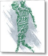 Kyrie Irving Boston Celtics Water Color Art Metal Print