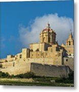 L-imdina Castle City Cathedral And Walls Metal Print