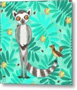 L Is For Lemur And Lark Metal Print