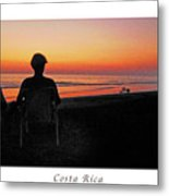 la Casita Playa Hermosa Puntarenas Costa Rica - Sunset Happy Couple Panorama Poster Metal Print