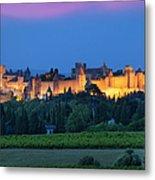 La Cite Carcassonne Metal Print by Brian Jannsen