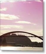 La Conner Rainbow Bridge-  By Linda Woods Metal Print