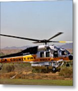 La County Fire Air Support Metal Print