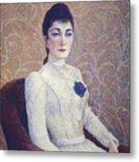 La Dame La Robe Blanche 1886 Metal Print