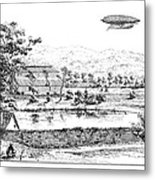 La France Airship, 1884 Metal Print