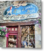 La Gacilly, Morbihan, Brittany, France, Wooden Toy Store Metal Print