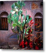 La Hacienda In Old Tuscon Az Metal Print by Susanne Van Hulst