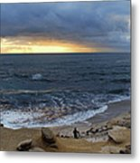 La Jolla Shores Beach Panorama Metal Print