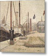 La Maria At Honfleur Metal Print
