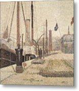 La Maria At Honfleur Metal Print by Georges Pierre Seurat