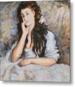 La Pensee My Reproduction Of Renoirs Work Metal Print