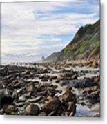 La Piedra Shore Malibu Dusk Metal Print