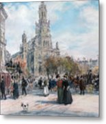 La Place De Trinite Metal Print