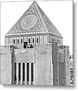 La Public Library Tower Mosaic Metal Print