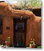 La Puerta Marron Vieja - The Old Brown Door Metal Print