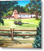 La Purisima With Fence Metal Print