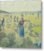 The Harvesting Of Hay Eragny  Metal Print