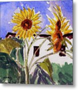 La Romita Sunflowers Metal Print