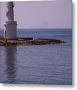 La Sabina Lighthouse Formentera And The Island Of Es Vedra Metal Print