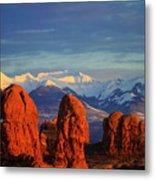 La Sal Mountains In Arches Np Utah Metal Print