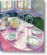 La Table De Fernande Metal Print