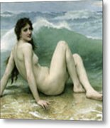 La Vague Metal Print by William Adolphe Bouguereau