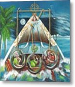 La Virgen De La Caridad Del Cobre En Miami Metal Print