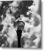 Lamp In The Clouds Metal Print