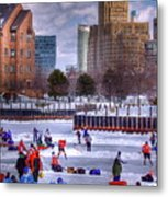 Labatt Pond Hockey 2011 Metal Print by Don Nieman