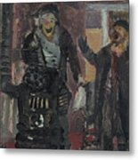 Laboheme Act 1 Burning Metal Print