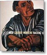 Labor Poster, 1930s Metal Print
