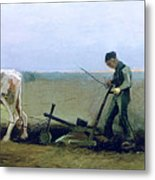 Labourer And Peasant  Metal Print by Vincent van Gogh