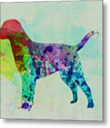 Labrador Retriever Watercolor Metal Print by Naxart Studio