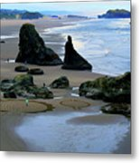 Labyrinths At Bandon Beach Metal Print