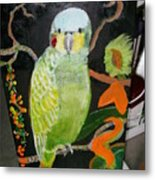 Lacey Jewel Bird Metal Print
