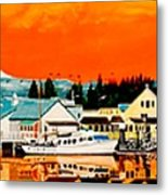 Laconner Last Water Front Panel Painting Metal Print