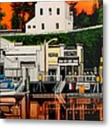 Laconner Waterfront Art Panel Metal Print
