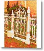 Lacy Garden Gate Metal Print